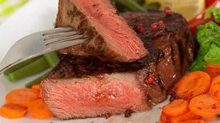 picture Fat-burning sirloin steak