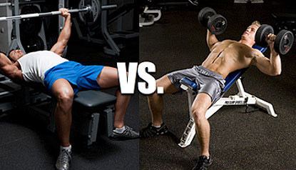 barbell press vs dumbbell press