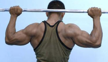 behind the neck presses and pulldowns