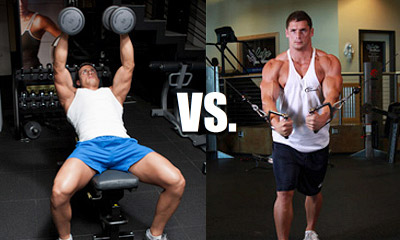 dumbbell flys vs cable crossovers