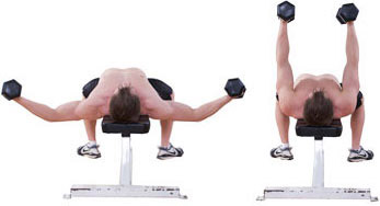 flat dumbbell chest flye