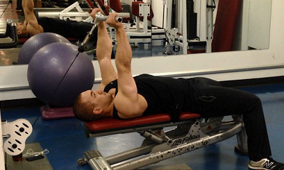 lying cable tricep extension