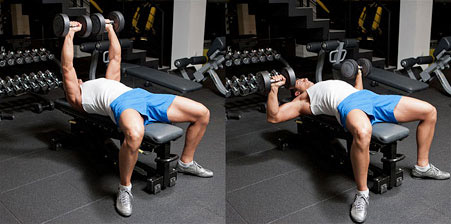 flat dumbbell press