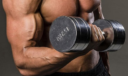 supinating dumbbell curl