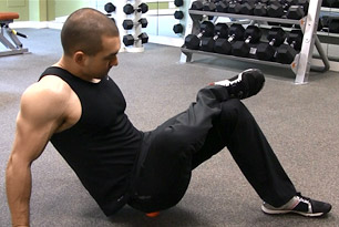 glute ball rolling