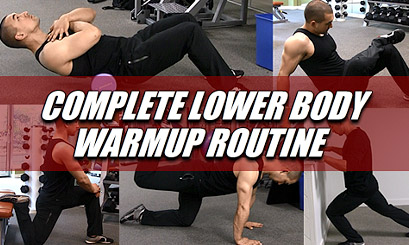 lower body warm up