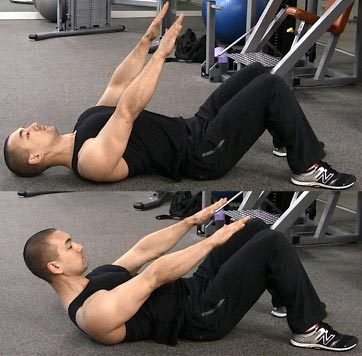t-spine sit ups