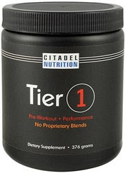 tier 1 pre workout