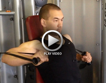 single arm cable chest press