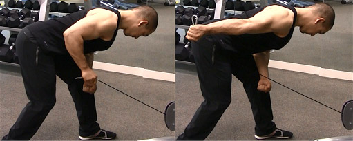 tricep cable kickback