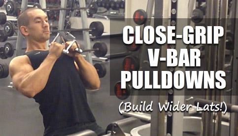 close grip v-bar pulldown