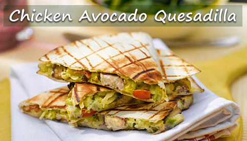 chicken avocado quesadilla