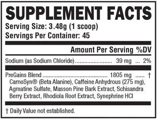 pregains ingredients
