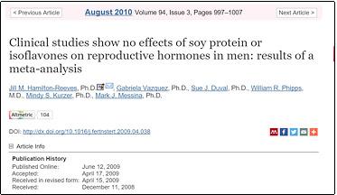 soy protein studies
