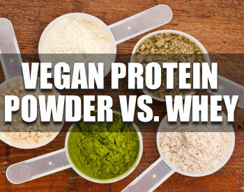 vegan protein powder vs. whey
