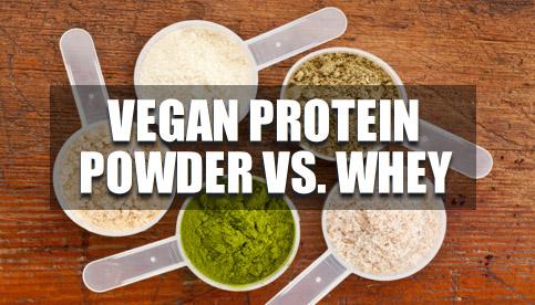 vegan protein powder vs. whey