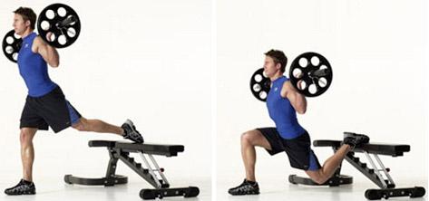 bulgarian barbell split squat