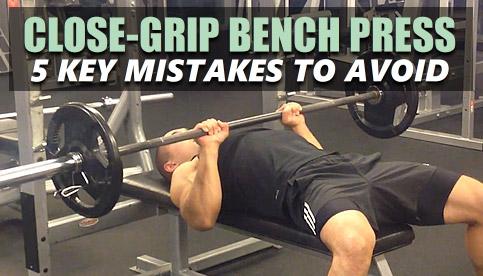 close grip bench press form