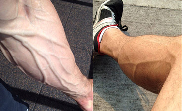 veiny arms and legs