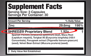 shredz ingredients