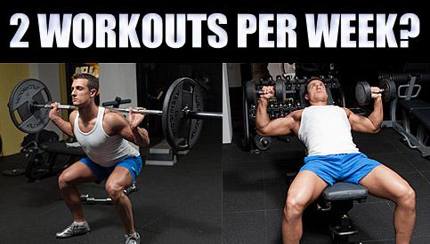 2 workouts per week