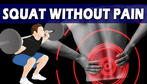 squats lower back pain