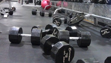 gym rerack weights