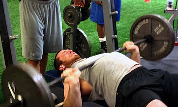 bench press bounce