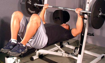 bench press feet