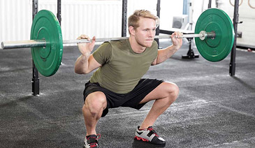 squat warm up