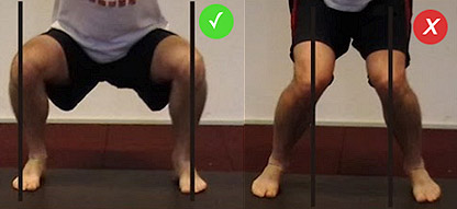 squats knees collapse