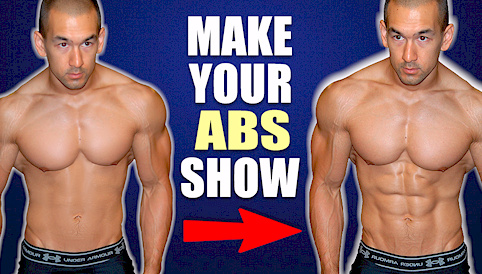 low body fat no abs